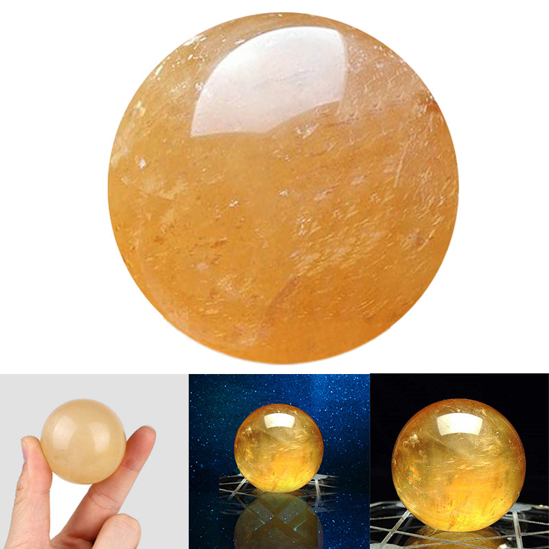 40mm Natural Citrine Quartz Crystal Sphere... Healing Gemstone