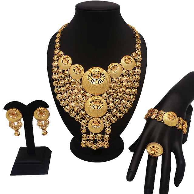 Dubai gold plating jewelry sets