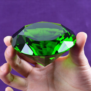 Green Crystal Diamond Paperweight
