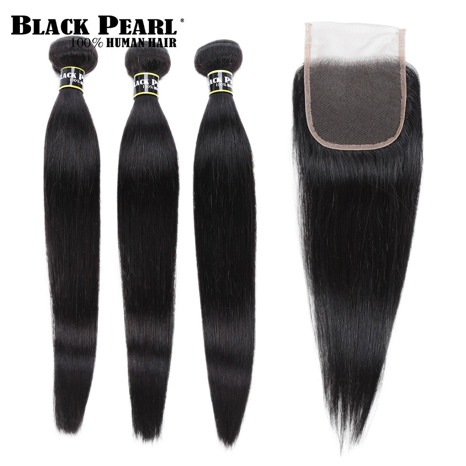 Black Pearl Pre-Colored 3 Bundles with Closure (US 5-7 days)