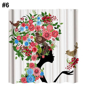 Waterproof Polyester Shower Curtain Home Bathroom Decor
