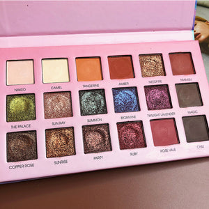 18 Color Beauty Glazed Professional Soft Glam Matte Eyeshadow