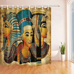 Celebrate the Queen that you are bu this Egyptian Shower Curtain/ 3pc set/Lid Toilet Cover+Pedestal Rug+ Bathroom Mats