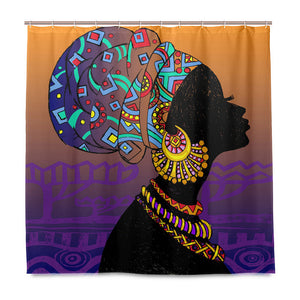 Black Girl Shower Curtain