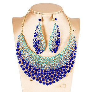 Nigerian necklace and earrings