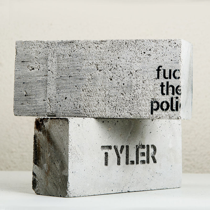 fuc th polic | Art Brick by Tyler
