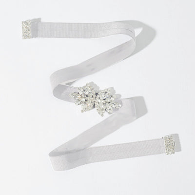 Rent Wedding Dress Sash-Double Leaf Stretch Sash-Happily Ever Borrowed