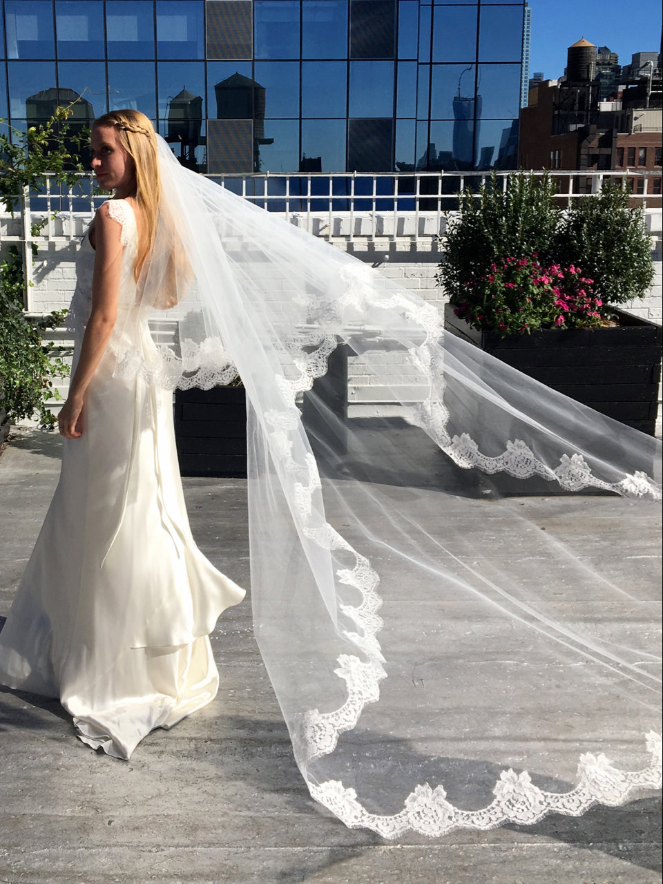 Rent a Wedding Veil-Gardenia Cathedral Veil-Happily Ever Borrowed