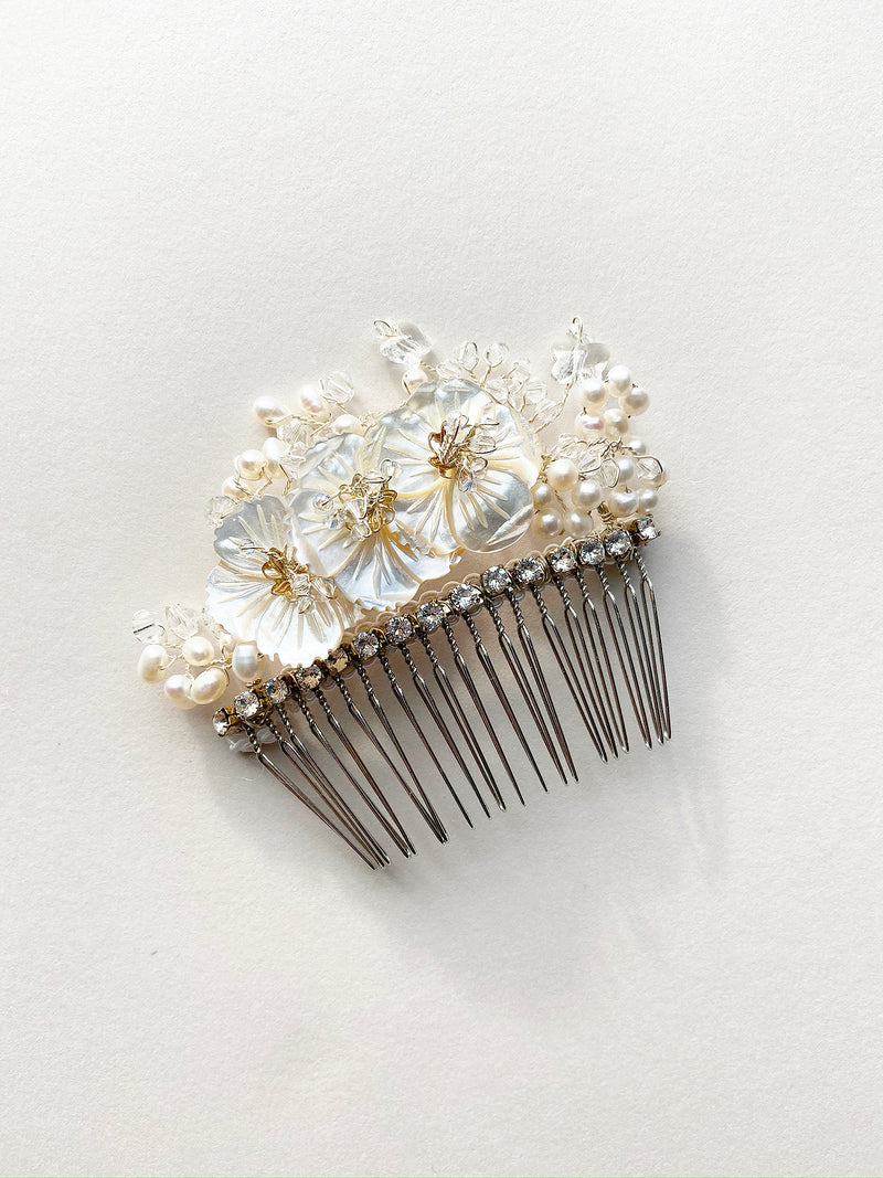 Rent Wedding Headpiece-Apple Blossom Comb-Happily Ever Borrowed