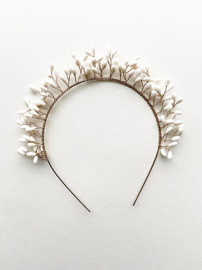 Rent Wedding Headpiece-Blossom Bud Headband-Happily Ever Borrowed