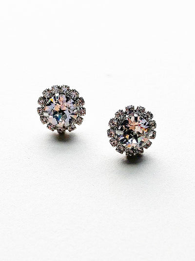Wedding Jewelry Rental - Button Crystal Earrings - Happily Ever Borrowed