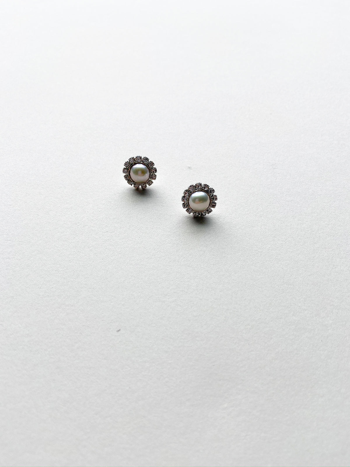Rent Wedding Jewelry-Button Pearl Earrings-Happily Ever Borrowed