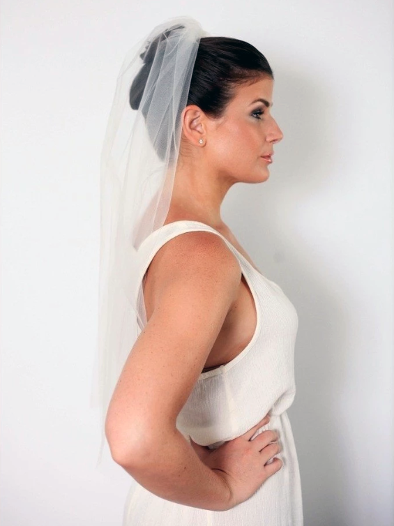 "Rent a Wedding Veil-30"" Summer Ball Veil-Happily Ever Borrowed"