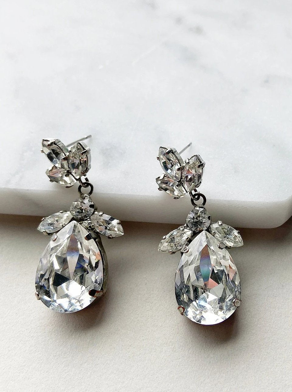 Rental Bridal Jewelry - Classic Drop Earrings - Happily Ever Borrowed