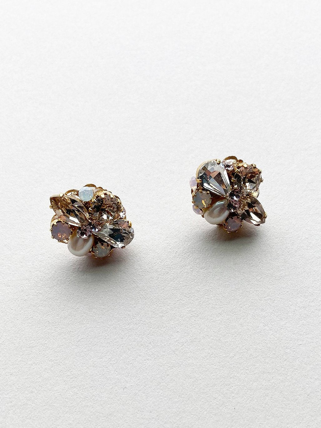 Rent Bridal Jewelry - Cluster Post Earrings - Happily Ever Borrowed