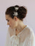 Rent Wedding Headpiece-Crystal speckled blossom and leaf bobby pin pair-Happily Ever Borrowed