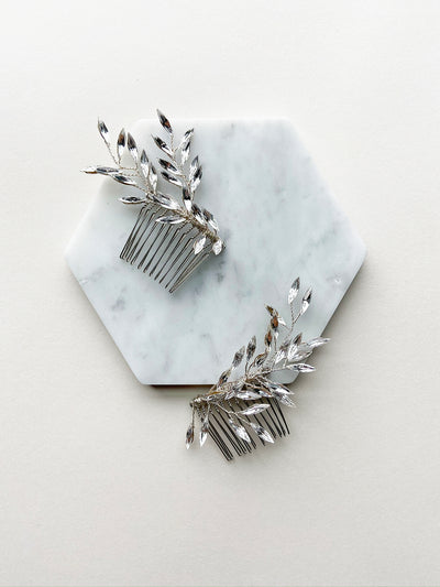 Rent Wedding Headpiece-Cyra Comb-Happily Ever Borrowed