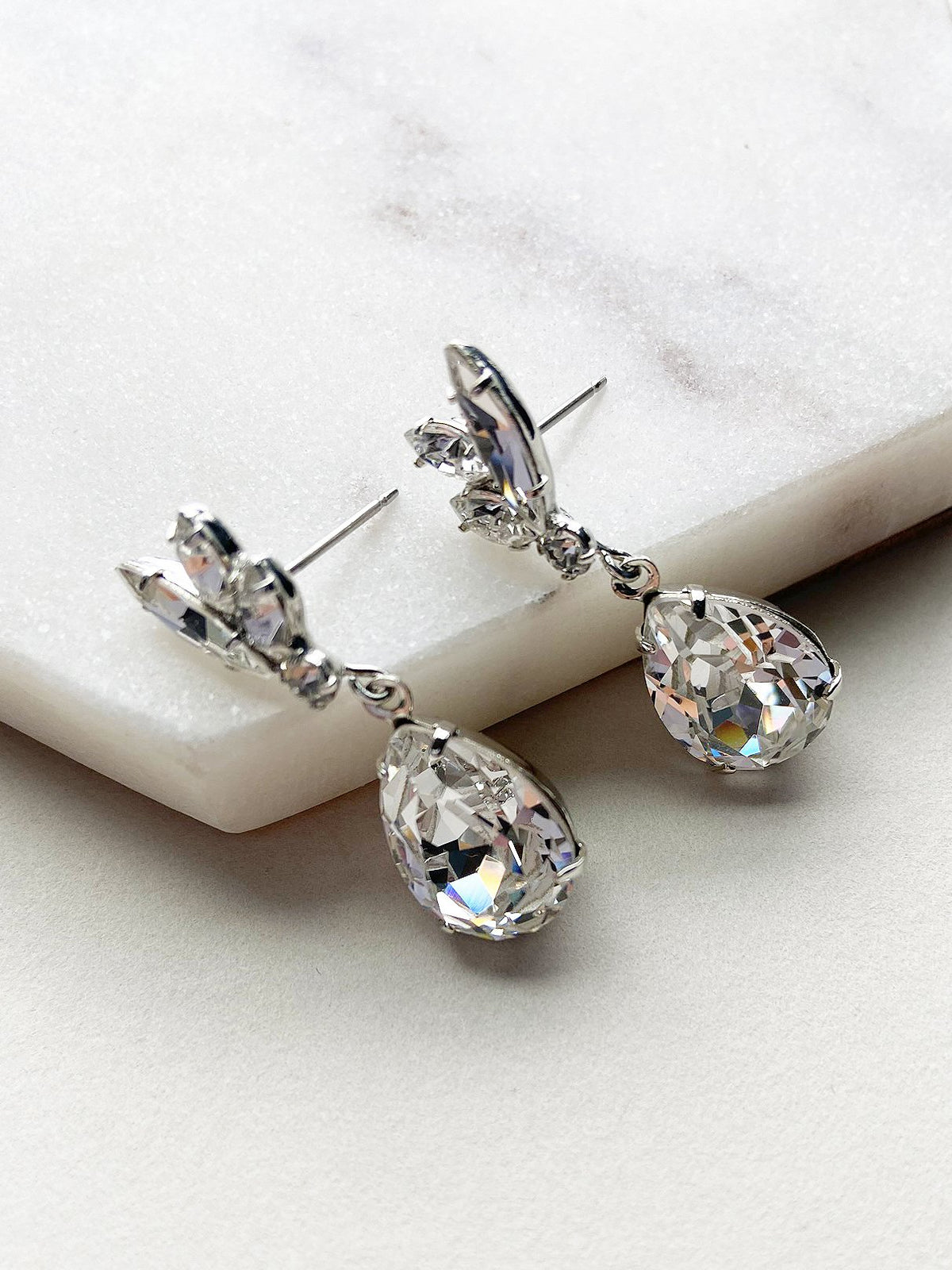 Rent Wedding Jewelry - Dainty Navette Earrings - Happily Ever Borrowed