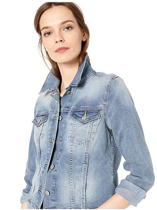 Just Married Denim Jacket-Rent Wedding Jacket-Happily Ever Borrowed