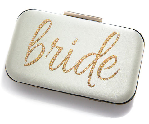 Ever After Clutch-Clutches-Ariel Jennifer Taub-Silver-Ivory-4 Day Rental-Happily Ever Borrowed