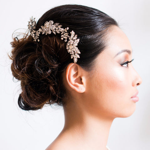Flora Vine-Hairpins & Combs-enchanted atelier-Silver-4 Day Rental-Happily Ever Borrowed