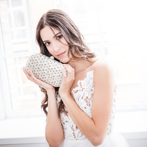Gemmiflorous Clutch-Clutches-Elizabeth Bower-Silver-4 Day Rental-Happily Ever Borrowed
