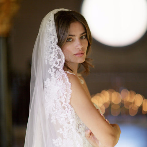 Ana Cathedral Veil-Veils-Brides & Hairpins-Ivory-4 Day Rental-Happily Ever Borrowed