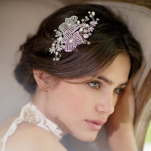 Ava Comb-Hairpins & Combs-Brides & Hairpins-Antique Platinum-4 Day Rental-Happily Ever Borrowed