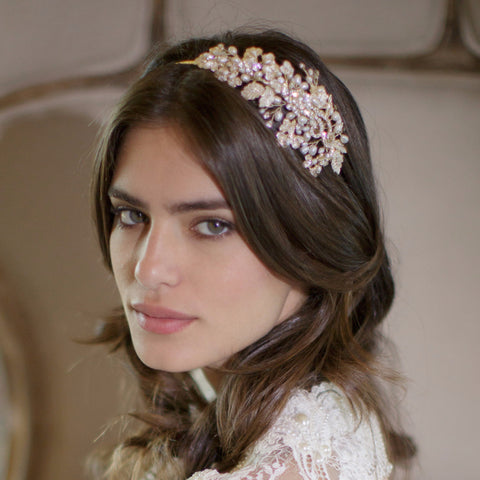 Isabella Headband-headbands-Brides & Hairpins-Classic Silver-4 Day Rental-Happily Ever Borrowed