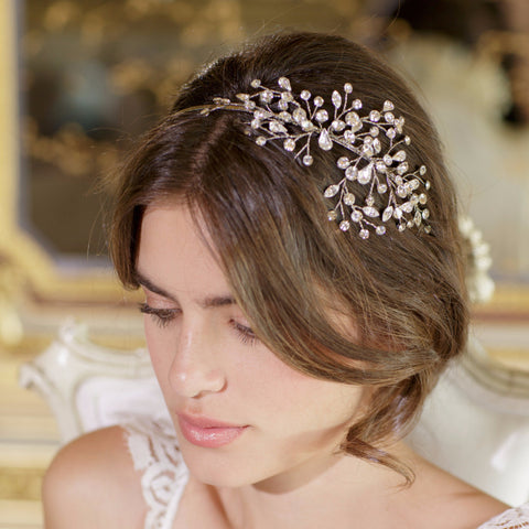 Neveah Headband-headbands-Brides & Hairpins-Antique Platinum-4 Day Rental-Happily Ever Borrowed