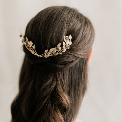Rent Wedding Headpiece-Rose Garden Comb-Happily Ever Borrowed