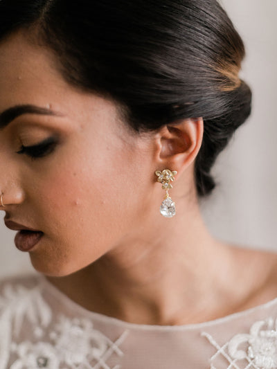 Rent Bridal Jewelry - Cecile Earrings - Happily Ever Borrowed