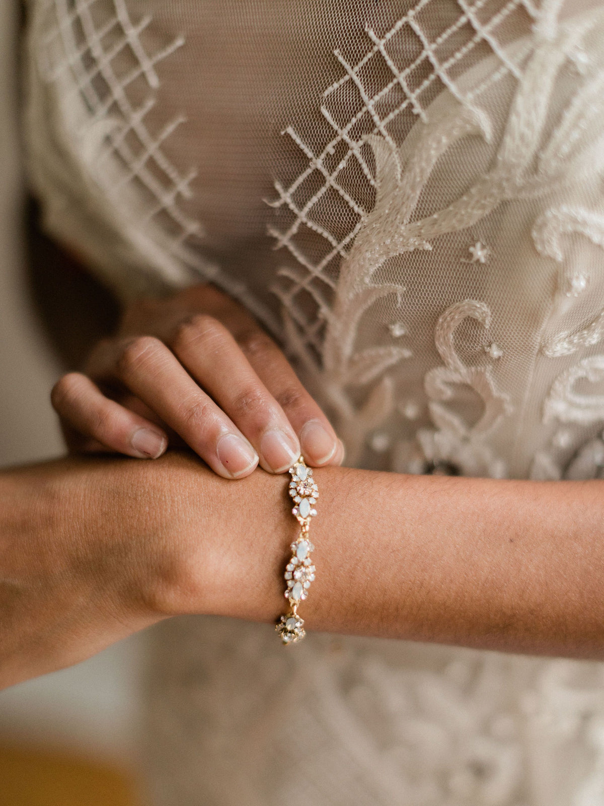 Rent Wedding Jewelry - Golden Filigree Bracelet - Happily Ever Borrowed