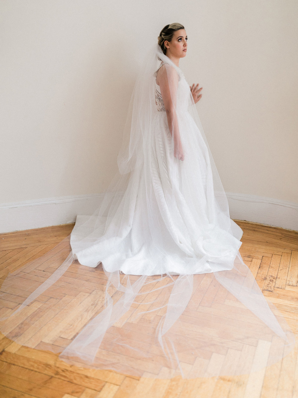 Rent a Wedding Veil-Simple Two-Tier Cathedral Veil-Happily Ever Borrowed