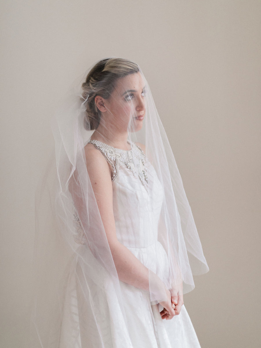 Simple Two-Tier Cathedral Veil
