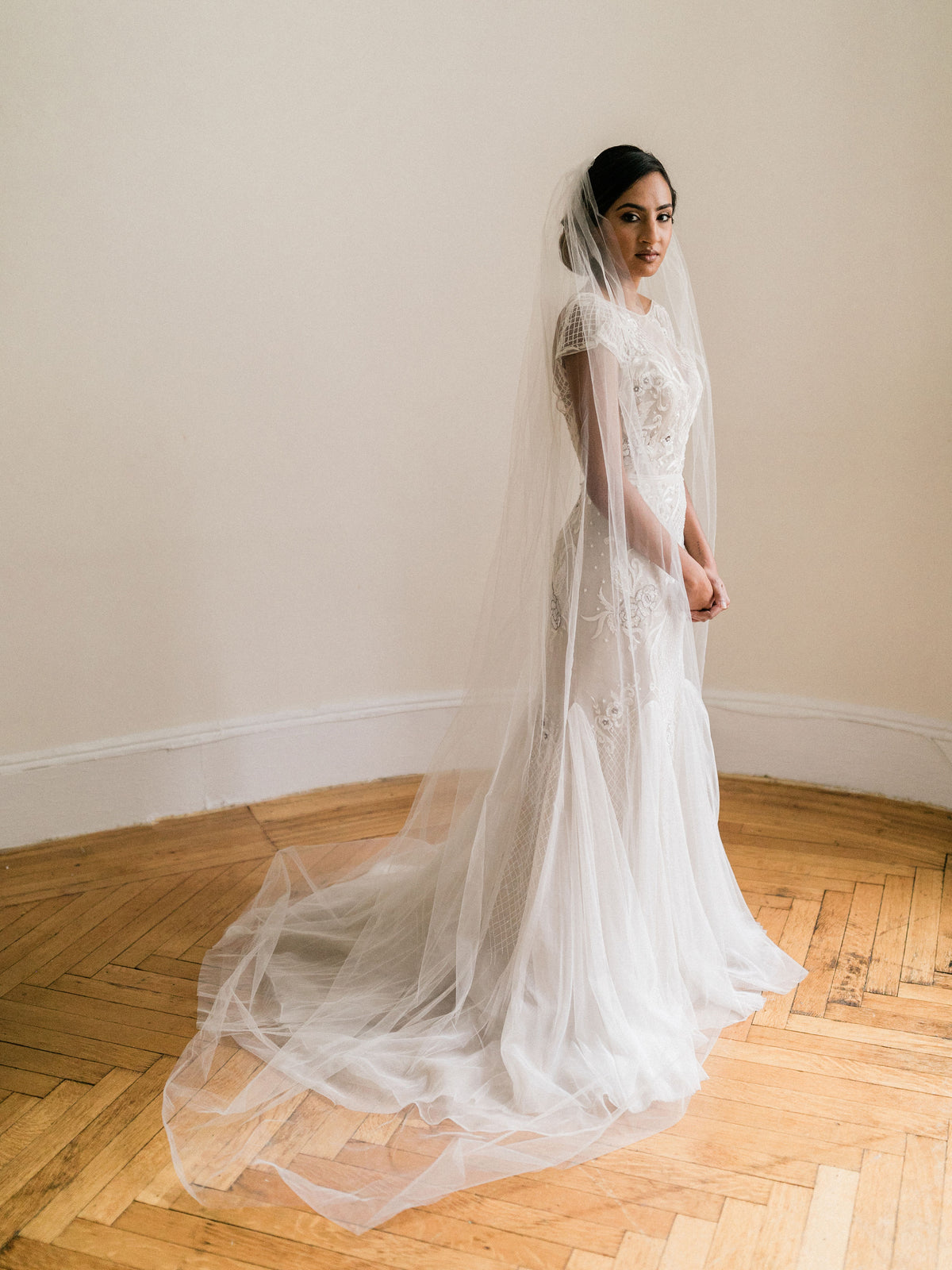 Rent a Wedding Veil-Simple Cathedral Veil-Happily Ever Borrowed