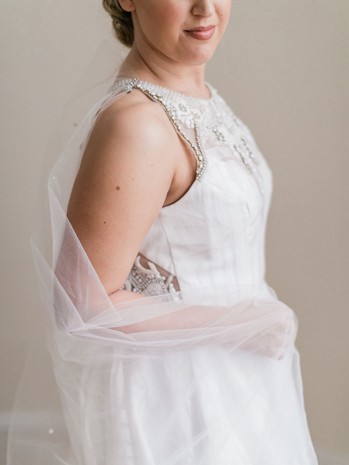 Rent a Wedding Veil-Valentina Cape-Happily Ever Borrowed
