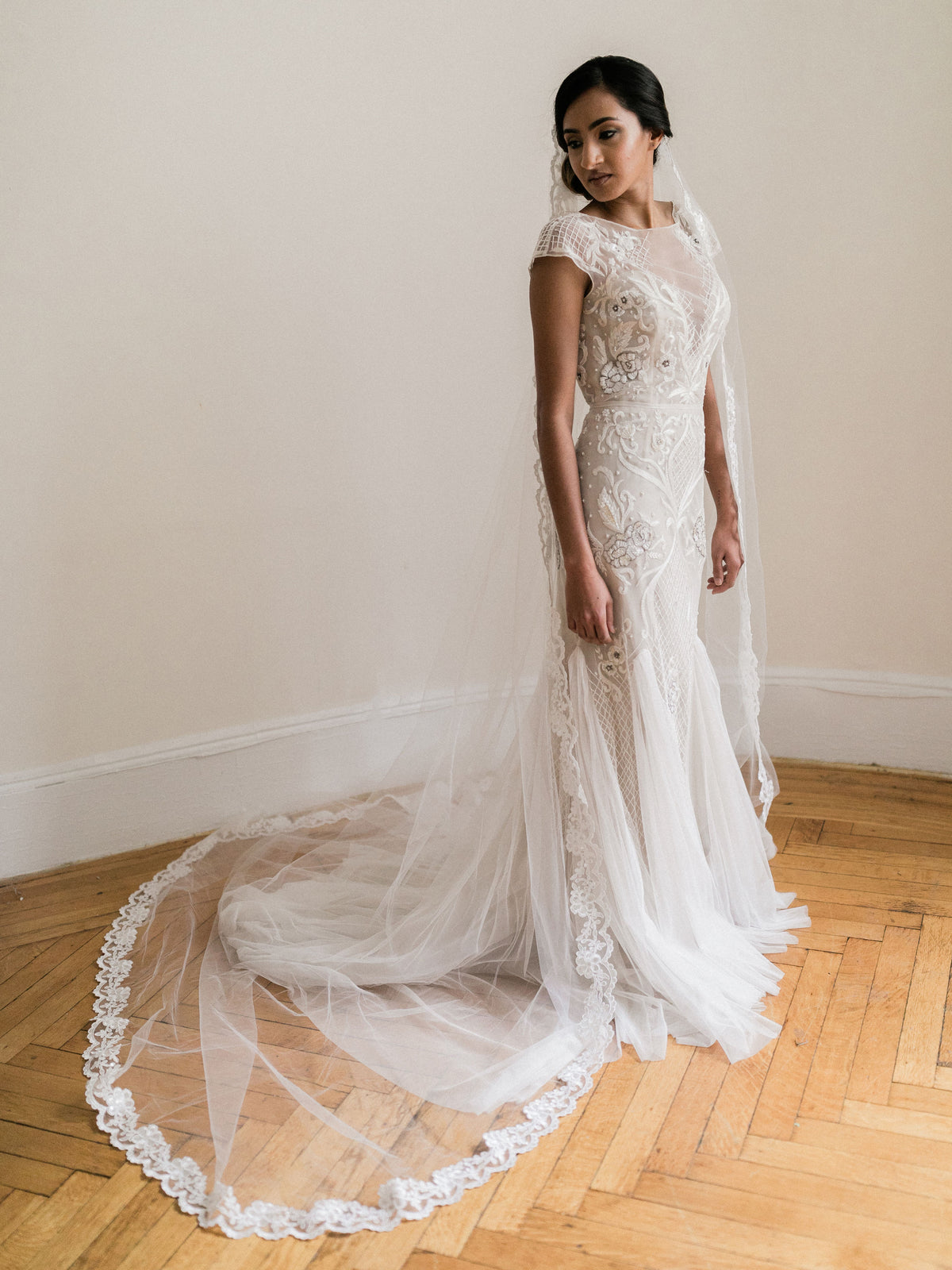 Rent a Wedding Veil-Courtney Veil-Happily Ever Borrowed