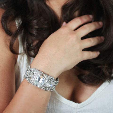 Claudia Cuff-bracelets-Justine M. Couture-Silver-4 Day Rental-Happily Ever Borrowed