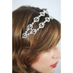 Hayworth Bandeau-headbands-Stephanie Browne-Happily Ever Borrowed