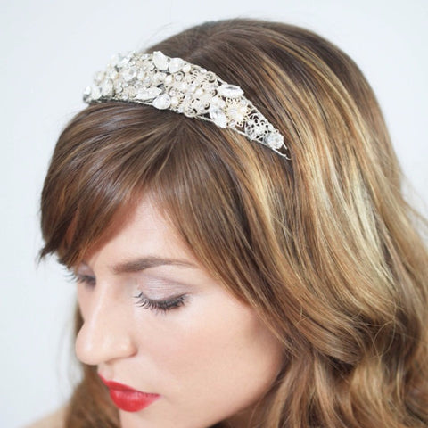 Charlotte Headband-headbands-Justine M. Couture-silver-4 Day Rental-Happily Ever Borrowed