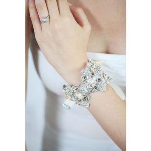 Isabella Cuff - Ivory-bracelets-enchanted atelier-Happily Ever Borrowed