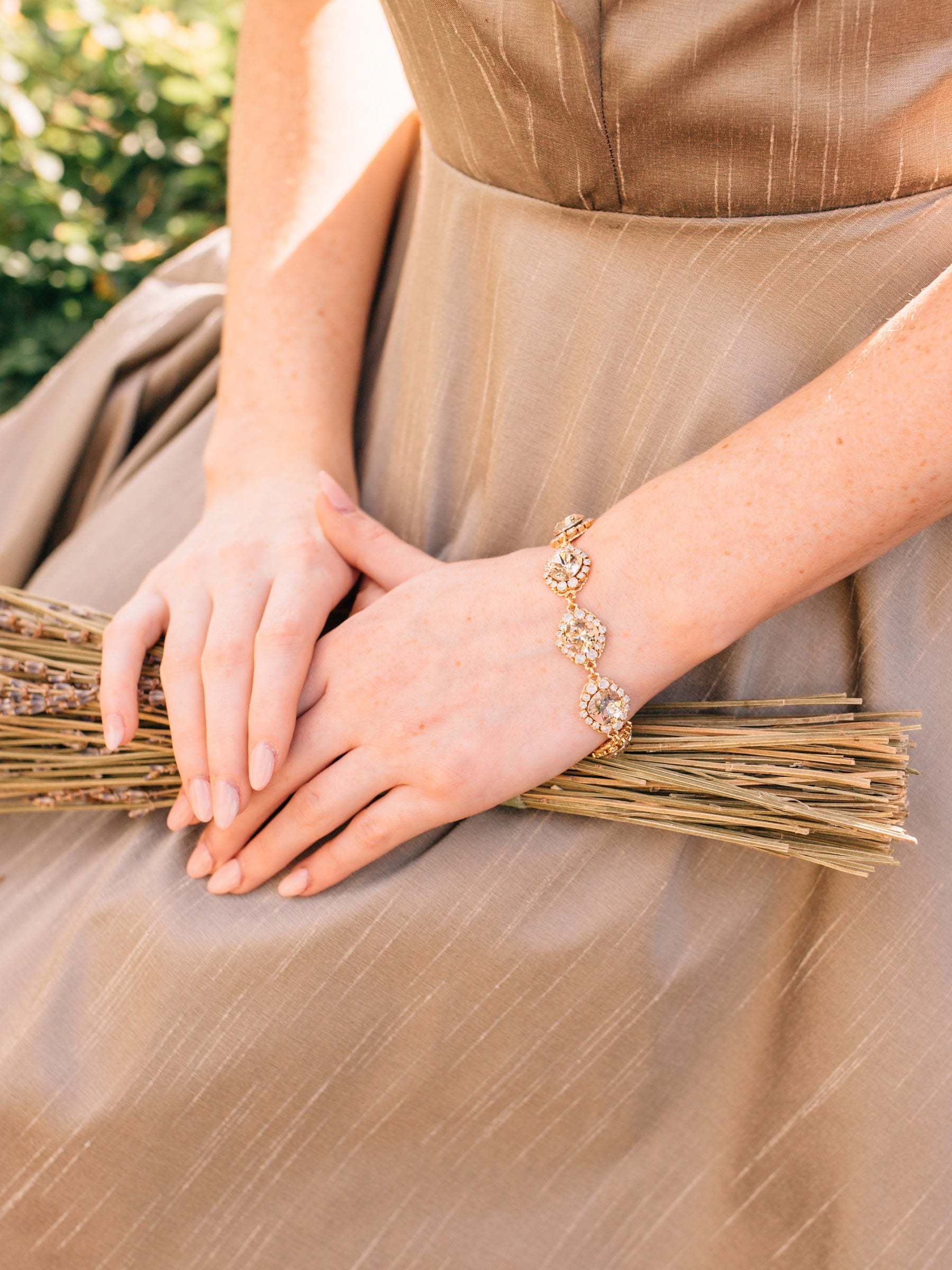 Rent Bridal Jewelry - Lindsie Gold Bracelet - Happily Ever Borrowed