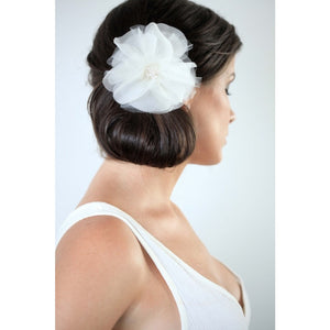 Pom Pom Flower-Hairpins & Combs-Justine M. Couture-Happily Ever Borrowed