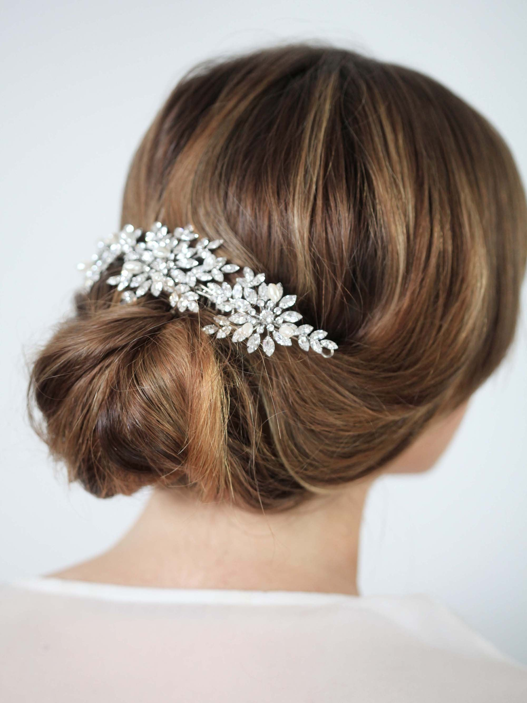 Rent Bridal Hair Accessories - Jasmine Pearl Band - Happily Ever Borrowed