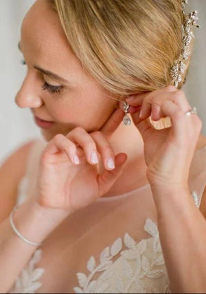 Dainty Navette Drop Earrings