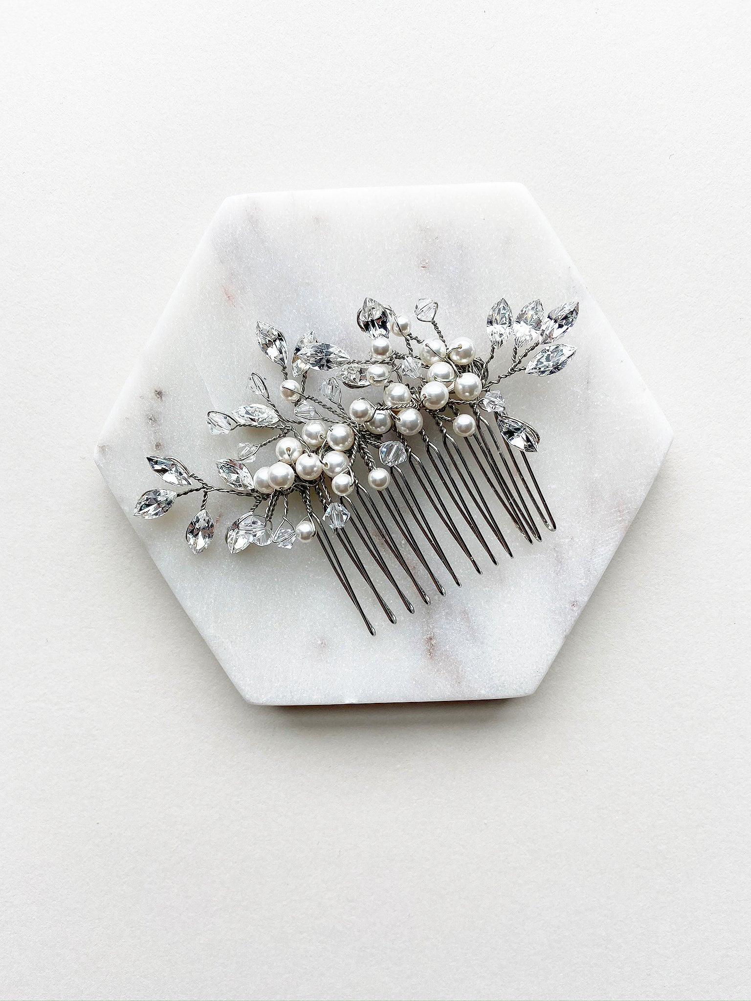 Rent Wedding Headpiece-Kiki Hair Comb-Happily Ever Borrowed