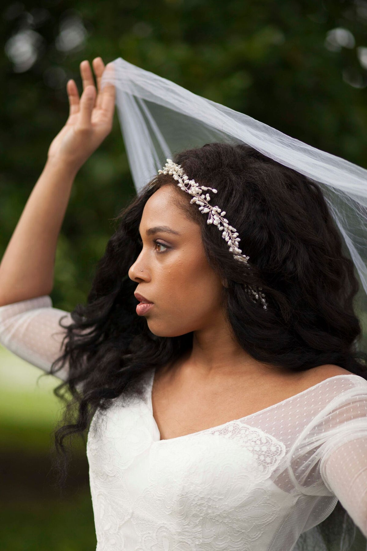 Rent Wedding Headpiece-Laurel Hairvine-Happily Ever Borrowed