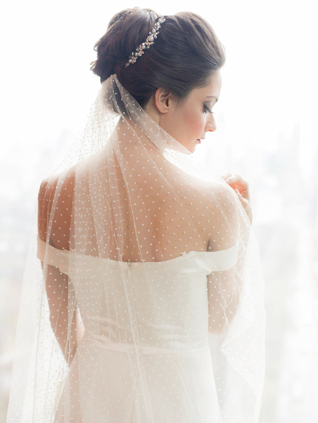 Rent a Wedding Veil-Dot Veil-Happily Ever Borrowed