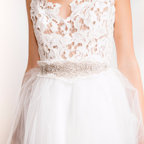 Madeline Lace Sash-belts-Justine M. Couture-Ivory-4 Day Rental-Happily Ever Borrowed
